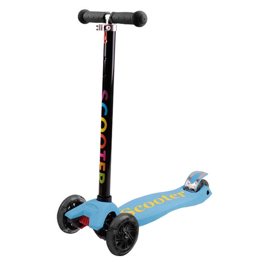 【再入荷】 キックスクーター三輪車スケートボードペダル式乗用スタントスクーターLED調節可能な折りたたみTバーハンドルライトアップホイール付き 青 B07HCB73QZ B07HCB73QZ 青 青 青, 甲良町:09fcc441 --- a0267596.xsph.ru