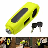 Cisixin Motorcycle Scooter Bike Handlebar Throttle Grip Anti-Theft Safety Lock With 2 Keys (Light Green)