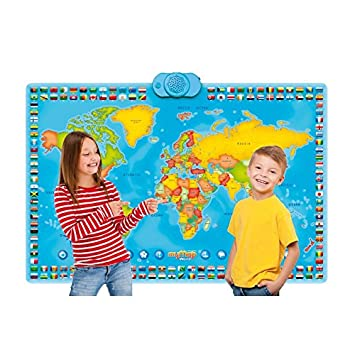 Amazon zanzoon interactive my map world talking poster baby zanzoon interactive my map world talking poster gumiabroncs Image collections