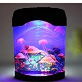 OFKP® Novelty LED Artificial Jellyfish Aquarium Lighting Fish Tank Night Light Lamp
