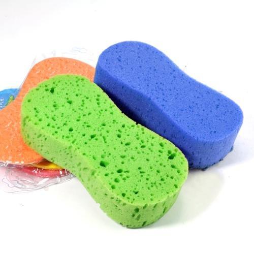 Zebratown 5 Pcs Assorted Color 8 Shape Cleaning Sponge Pad for Auto Cars
