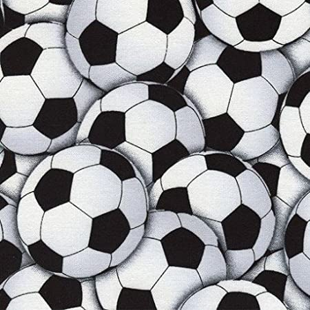 8bbe656a1 Soccer ball football sport fabric by Timeless Treasures (per 0.5 meter  unit): Amazon.co.uk: Kitchen & Home