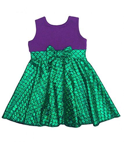 Ariel Outfit (Girls Mermaid dress girls summer dresses kids cartoon dresses children 3-8 years)