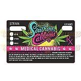 250 California Prop 215 Medical Marijuana Cannabis Strain Sticker Labels 1.25 x 2 S-020