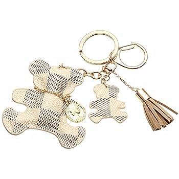 6cb37acc98ee Fashion Bear Tassel Charm Car Purse Wallet Handbag PU Leather Key Chain Ring