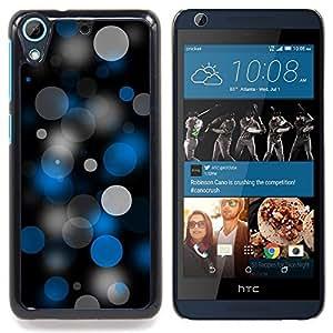 "Qstar Arte & diseño plástico duro Fundas Cover Cubre Hard Case Cover para HTC Desire 626 (Puntos Spots Pattern Art Wallpaper Azul Gris Negro"")"