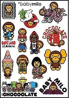 Amazoncom Bape Babymilo Spongebob Logo Skateboard Vinyl Sticker - Spongebob car decals