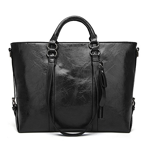 Large Leather Purses Handbag for women Men,PU Multi Pocket Shoulder Bags,Fashion Daily Top-Handle Bag Crossbody Bag (Purse Pocket Book)