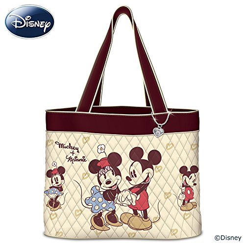 Disney Vintage Mickey Mouse And Minnie Mouse Women's Quilted Tote Bag by The Bradford Exchange