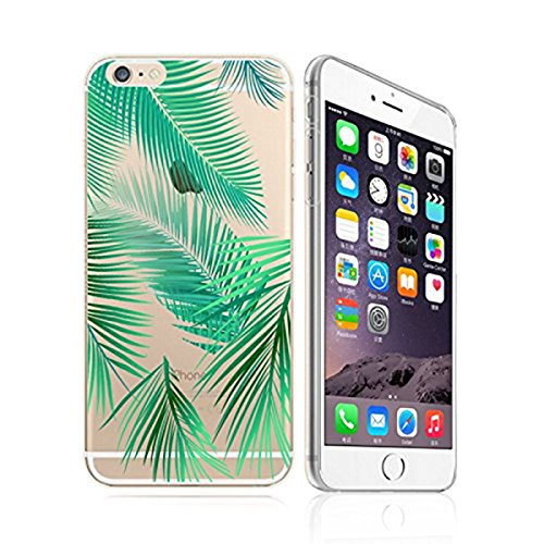 - DECO FAIRY Compatible with iPhone 8 / 7, Summer Bahama Leaf Leaves Nature Lover Green Forest Pine Deodar Palm Transparent Translucent Flexible Silicone Cover Case