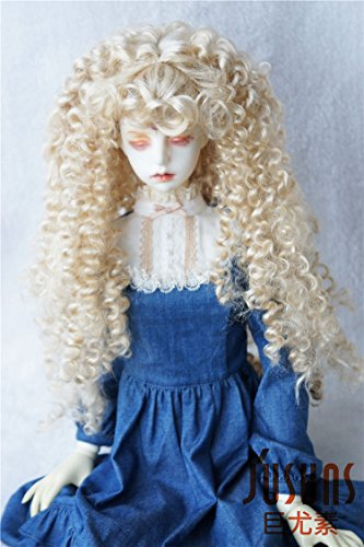 JD145 extraLong Wave Doll Wigs Synthetic Mohair BJD Hair (Blond, 8-9inch) ()