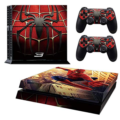 Ps4 Console Skins,Compatible with Playstation 4 Console Skin| ps4 Skins| ps4 Stickers|ps4 Decals|ps4 Skins Console and Controller |Ps4 Cover Skin Vinyl for ps4?Spiderman ps4 Skin?