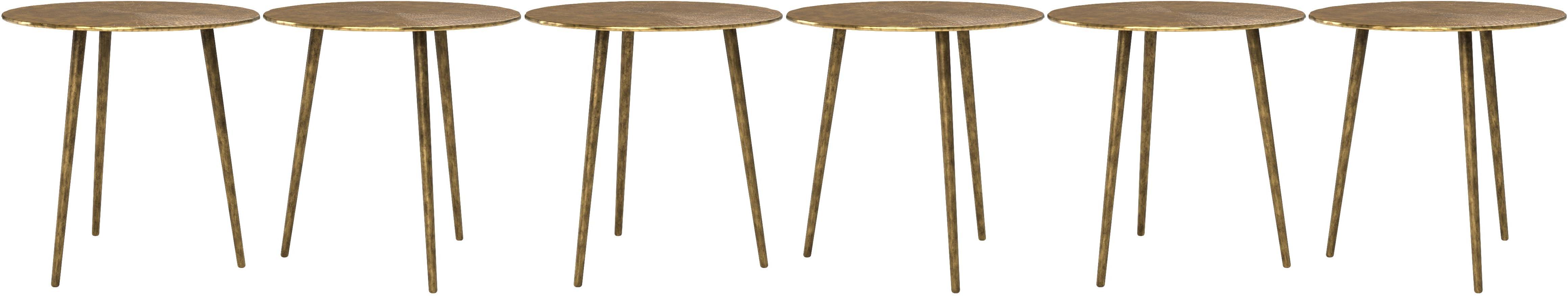 Gris diam/ètre 40 cm Argent m/étal Hauteur 47 cm Table dappoint HomeTrends4You Kumar 1 Table Basse Set de Table