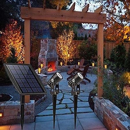 LAMP SUI Fotovoltaicos solares Luces de inundación, Jardín puntual Luces, Luces solares de la Hierba, Verdes, la energía Solar Luces de Tierra (Color : Black): Amazon.es: Hogar