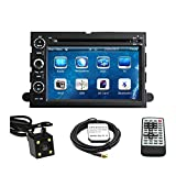 TLTek 7 inch Touch Screen Car GPS Navigation System For Ford Fusion 2006-2009 / Ford Explorer 2006-2010 / FORD F150 2004-2008 / Ford Focus 2004-2007 / Ford Edge 2007-2010 / Ford Expedition 2007-2010 / Ford Mustang 2007-2009 / Ford Freestyle 2005-2007 DVD Player+Backup Camera+North America Map
