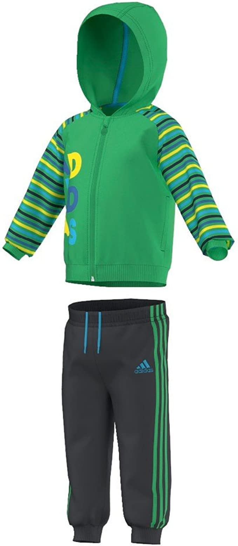 adidas I J Collegiate - Chándal para niños, Color Verde/Gris ...