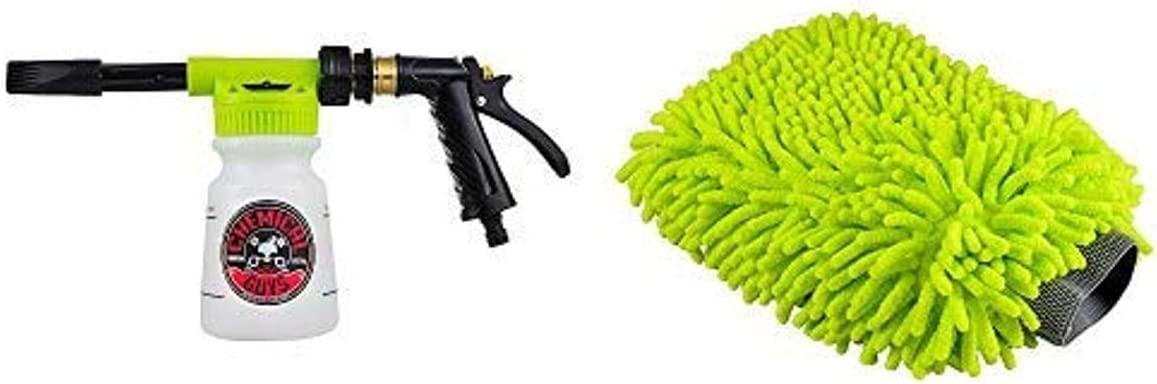 Chemical Guys Acc_326 – TORQ Foam Blaster 6 Foam Wash Gun – The Ultimate Car Wash Foamer That Connects to Any Garden Hose with Premium Scratch-Free Wash Mitt, Lime Green, Regular