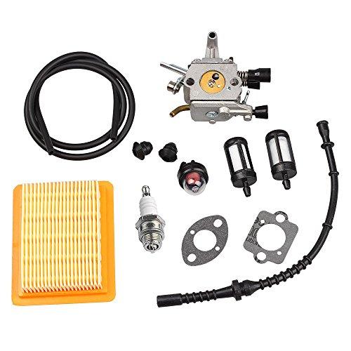 HIPA Carburetor with Air Filter Fuel Line Primer Bulb Repower Kit for STIHL Drill Auger BT120 BT120C BT121 SP200 ()