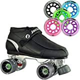Atom Jackson Elite Mens or Womens Viper Alloy Roller Derby Skate w/ Poison Savant Wheels in 5 Colors! - Womens Black Size 8