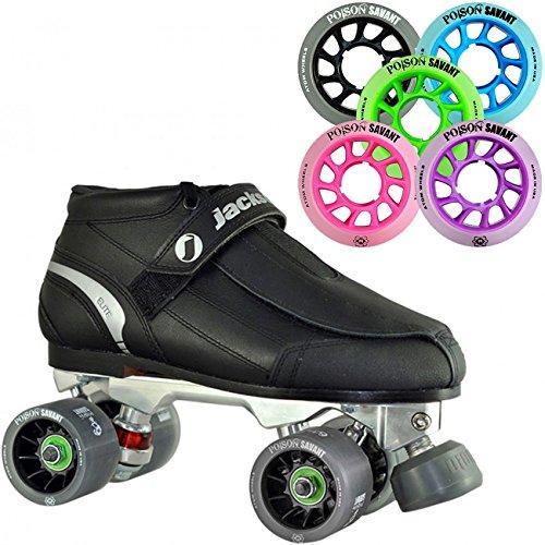 Atom Jackson Elite Mens or Womens Viper Alloy Roller Derby Skate w/ Poison Savant Wheels in 5 Colors! - Womens Purple Size - Elite Viper