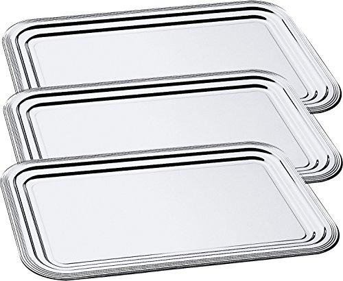 3 x Partyplatte / Servierplatte / Serviertablett / Fischplatte / Obstplatte   53 cm x 32,5 cm