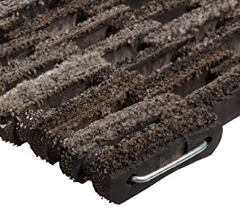 """Durable Corporation 400 Dura-Rug Fabric Tire-Link Entrance Mat, for Outdoors and Vestibules, 14"""" Width x 22"""" Length x 3/4"""" Thickness, Natural"""