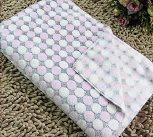 JINGB Pet Supplies Cats Dogs Blankets Super Soft Thin Blankets for Baby Beds Cats Dogs Beds (M 60  80cm, Dots-Pink) Pet Bed Blanket