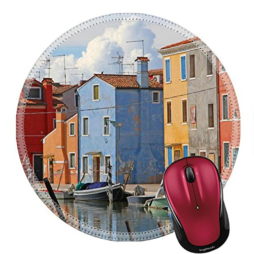 Liili Round Mouse Pad Natural Rubber Mousepad IMAGE ID 33502404 houses on the island of BURANO near Venice in Italy
