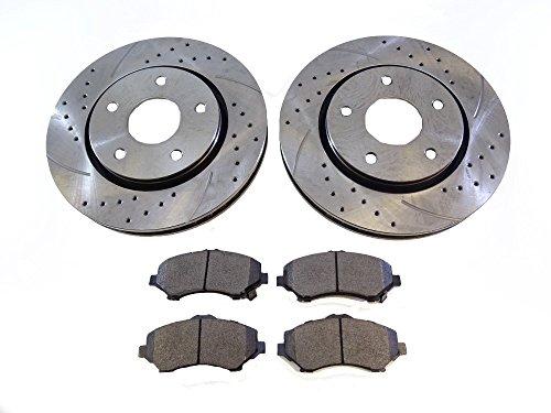 2x Front Brake Disc Rotors 53051A Brake Pads D1273 CBK: