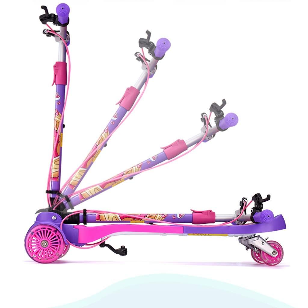 Skateboards Kinder Kinder Kinder Scooter Freistehende Fitnessgeräte Outdoor-Spielzeuge Für Kinder Flash Wheel Scooter 2 Bis 12 Jahre Alter Kinder-Roller Geben Sie Ihrem Kind B07NY2DCMF Skateboards Britisches Temperament dadb6a