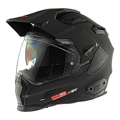 Plain Black Motorcycle Helmet - 2