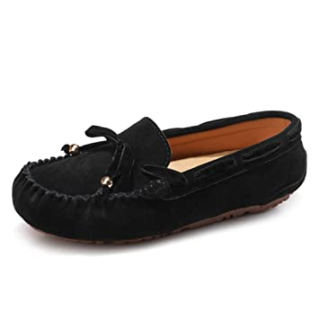 eae104b79ae7c Amazon.com: August Jim Women Loafers Shoes,No-Slip Suede Leather ...