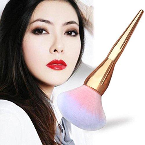 Hunputa-1PC-Gold-Cosmetic-Brushes-Kabuki-Face-Blush-Brush-Powder-Foundation-Tool-Gold