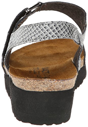Calzature Naot Donna Pamela Grigio Lucertola In Pelle Sandalo Grigio Lucertola
