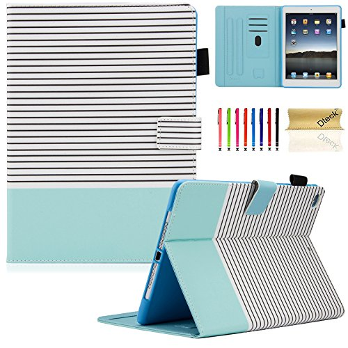 iPad 9.7 inch 2018/2017 Case, iPad Air Case, iPad Air 2 Case, Dteck PU Leather Folio Smart Cover Stand Wallet Case with Auto Sleep Wake for iPad 9.7 inch 2018 2017,iPad Air 1, iPad Air 2, Stripe