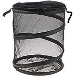 Flameer Folding Butterfly Cage Mesh Pop Up Habitat Terrarium Insect Grasshopper & Crickets Fly Net Garden Supplies -30x30x35cm Black