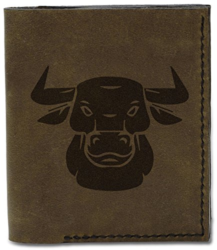 d MHLT Natural Tattoo Genuine Wallet Bull Tattoo Tribal Men's Tribal Handmade 3 Leather Bull 04 qwFI46