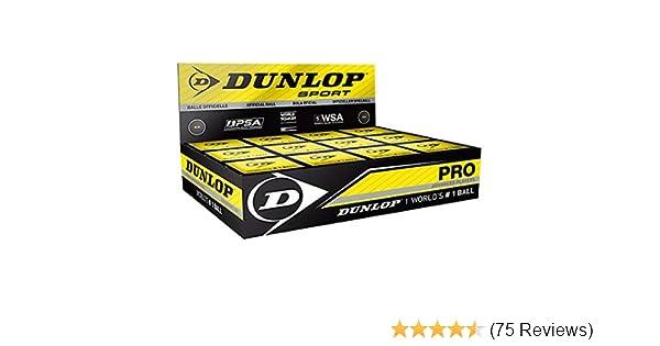 Dunlop Pro Squash Balls DOUBLE YELLOW Dot 12 PackWSA /& PSA Official Ball