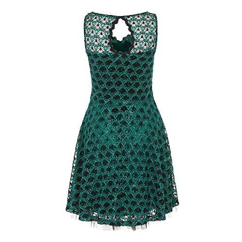 Voodoo Vixen Damen ALinie Kleid Grün Smaragdgrün Variante