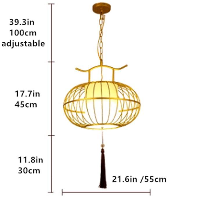 Lámparas de araña Luz de techo China antigua jaula de pájaro de ...