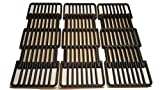 Adjustable Porcelain Cast Iron Grid- Set of Three Grids for Select Gas Grill Models By Char-Broil, Brinkmann, Charmglow, Broil-Mate, Grill Pro, Grill Zone, Sterling, Turbo, Grill Chef and Others