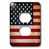 3dRose lsp_236487_6 Vintage America US Flag Plug Outlet Cover
