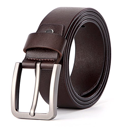 XIANGUO Men's Jeans Belt for men Genuine Leather Belt with Pin Buckle(Gift Box)