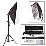 Photography Continuous Lighting Kit Output Light - 20 x 28 Softbox Lighting Kit for Portrait, Photo, and Video Studio with 79 Light Stand and One 135W 5500K Daylight Bulbs