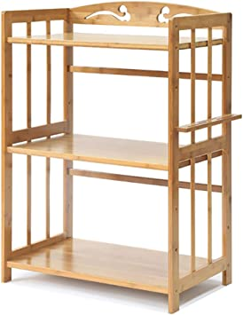 de hierro resistente organizador para el hogar y la cocina blanco para microondas horno plegable estante de almacenamiento Estante de horno para microondas