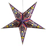 Ganasha Purple Paper Star Lantern with 12 Foot Power Cord Included