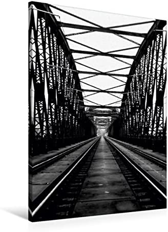 Premium Textil-Leinwand 60 cm x 90 cm de altura, Prag, puente ferroviario š Wandbild, imagen en Keilrahmen, Fertigbild en verdadera lienzo, Leinwanddruck (CALVENDO Orte);CALVENDO lugares