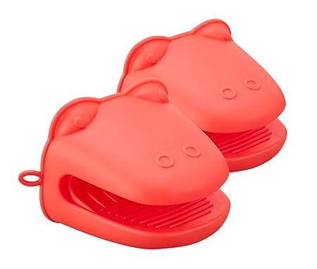 Elezay - Guantes de silicona resistentes al calor para horno, mini ...