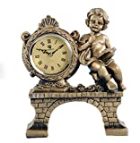 YOURNELO Vintage Reding Angle Roman Numeral Word Time Table Desk Fun Clock