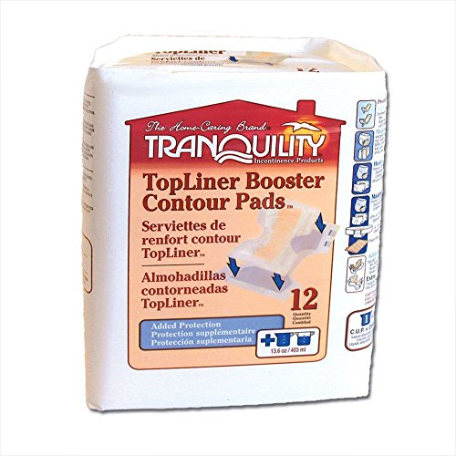 Tranquility TopLiner Booster Contour Pads (1 CASE, 120 EACH) (Booster Liner Top Pad)
